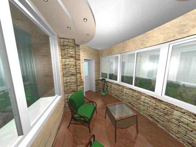 Отделочные работы балкона, дизайн