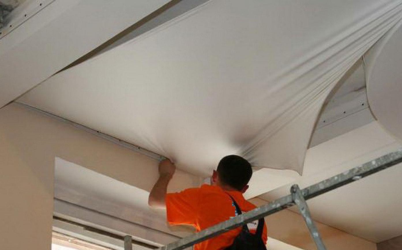ремонт натяжного потолка своими руками