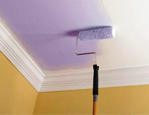 окраска потолка в/э краской